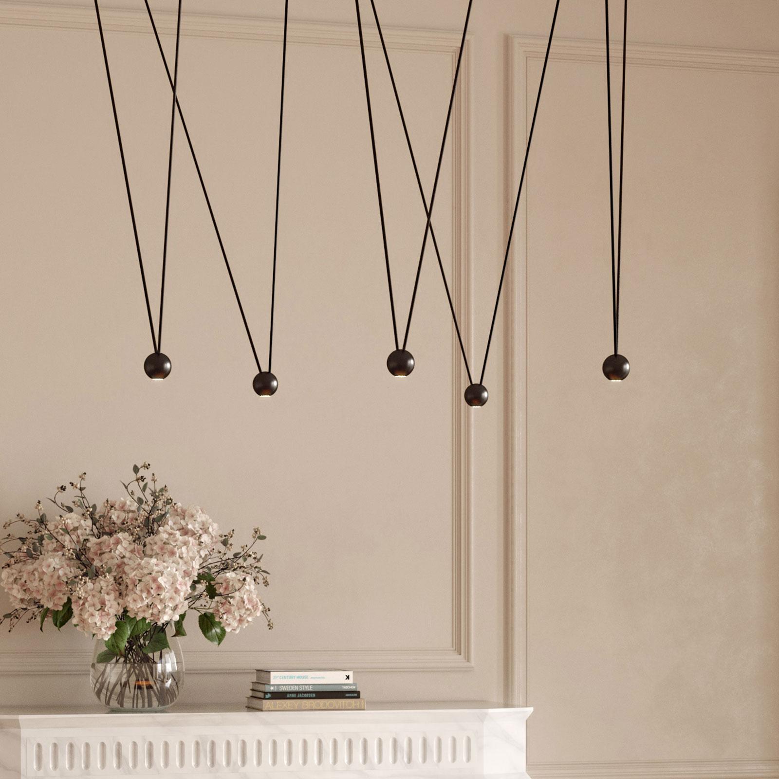 LEDS-C4 Punto Multiple Surfaced hanglamp zwart