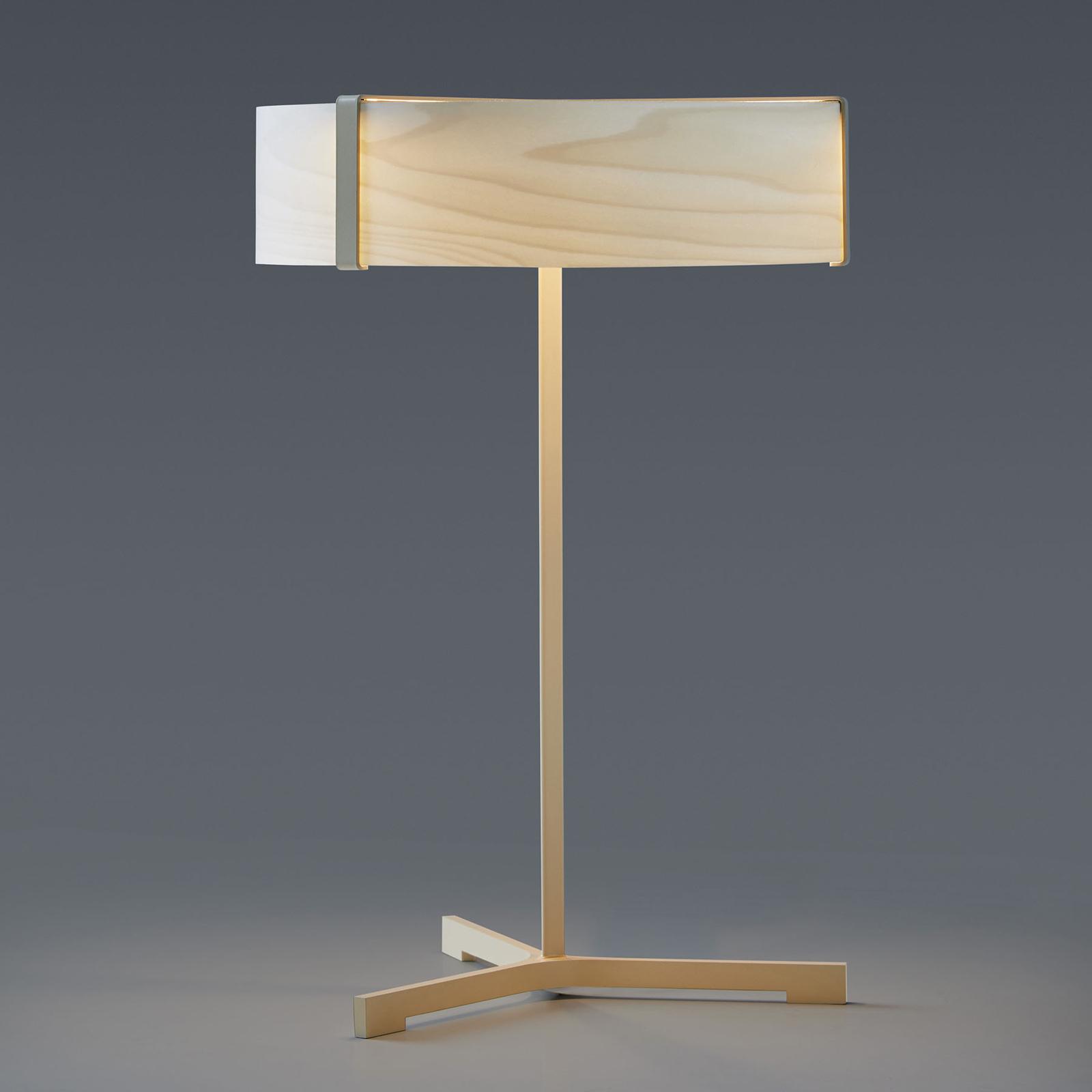LZF Thesis lampa stołowa LED kość słoniowa