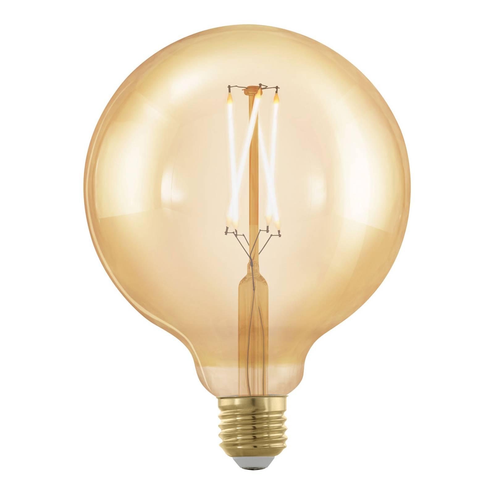 E27 G125 4W LED globe 1.700K oro, dimmerabile