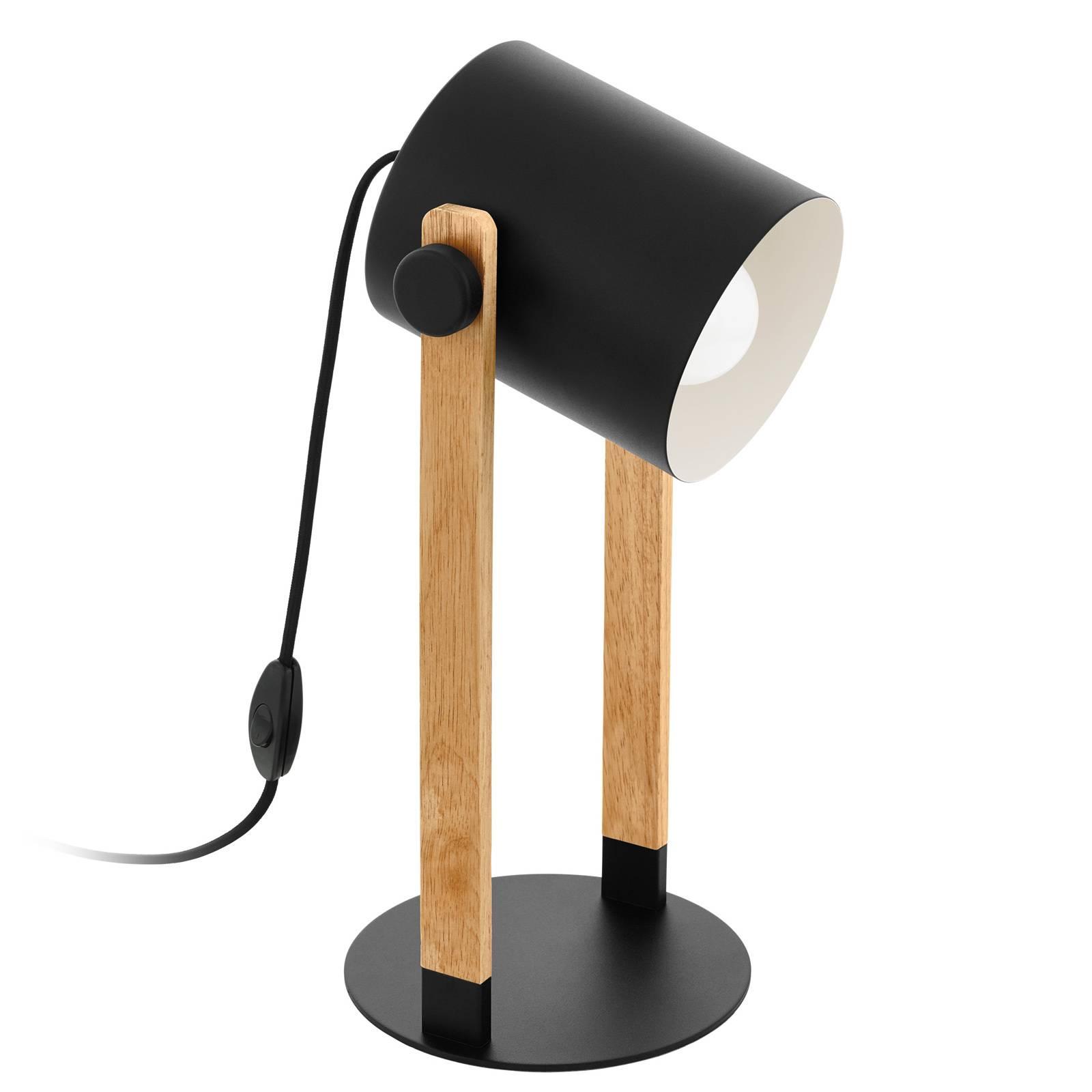 Lampe à poser Hornwood avec détails en bois
