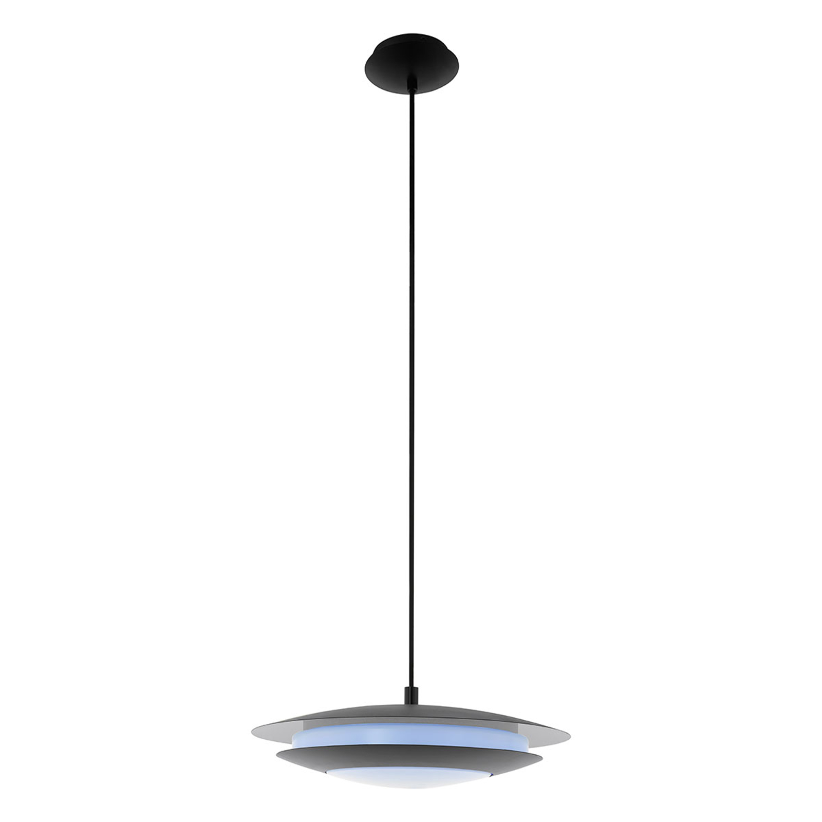EGLO connect Moneva-C LED-Hängelampe schwarz Ø40,5