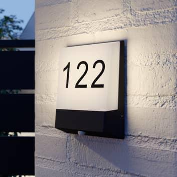 Lucande Kosman LED-Hausnummernleuchte, Sensor
