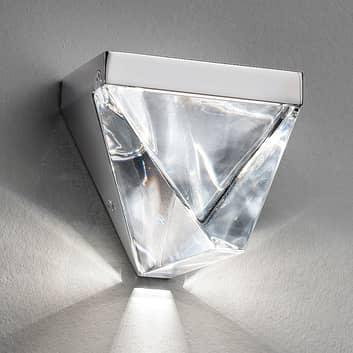 Fabbian Tripla - krystall-LED-vegglampe