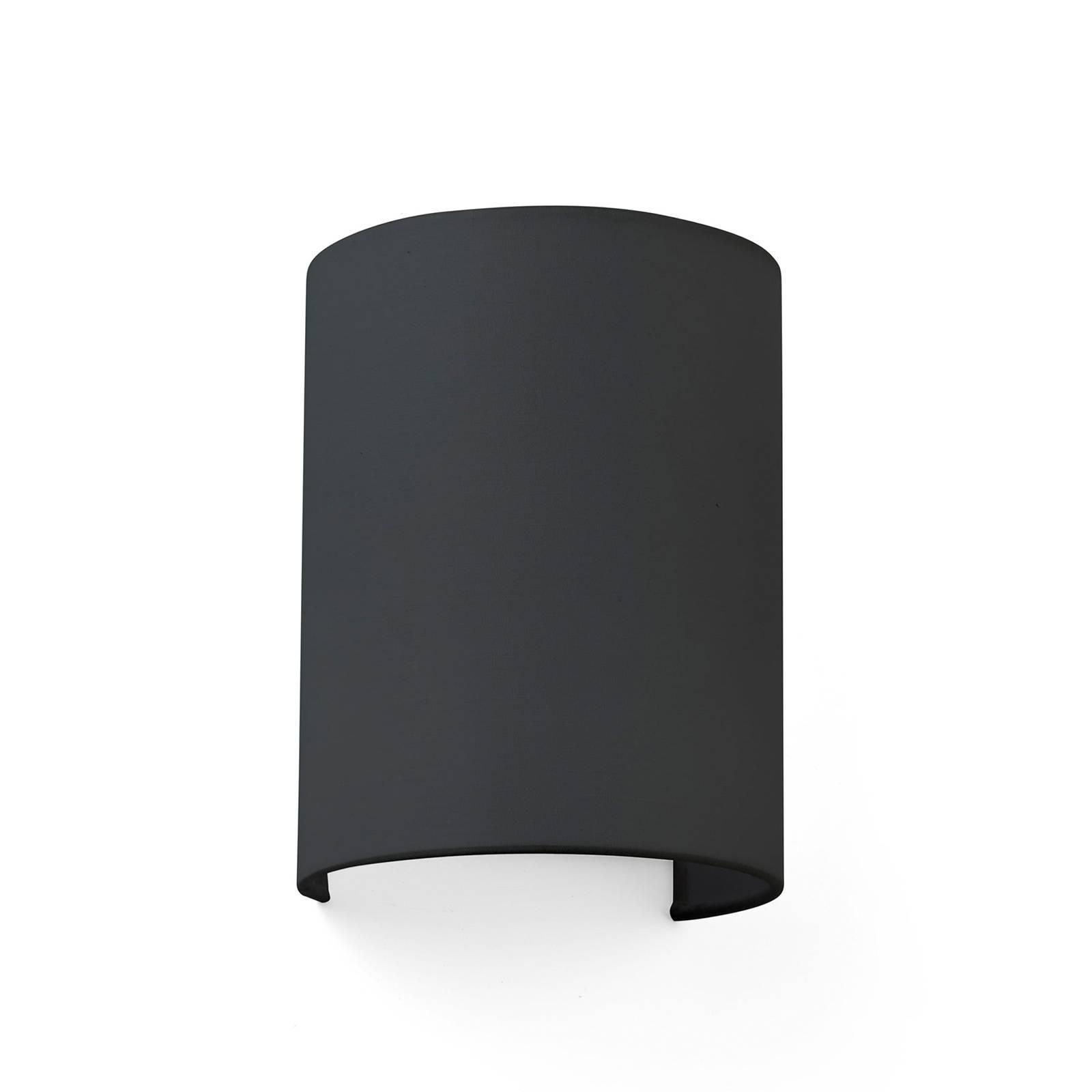 Billede af Cotton væglampe, buet, 20 x 15 cm, sort