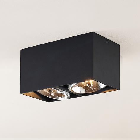 Arcchio Jarle stropní světlo, dvoužárovkové černé