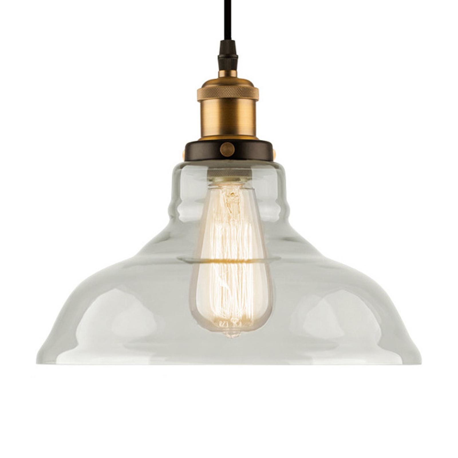 Hanglamp LA040 E27 Ø 28 cm messing/helder