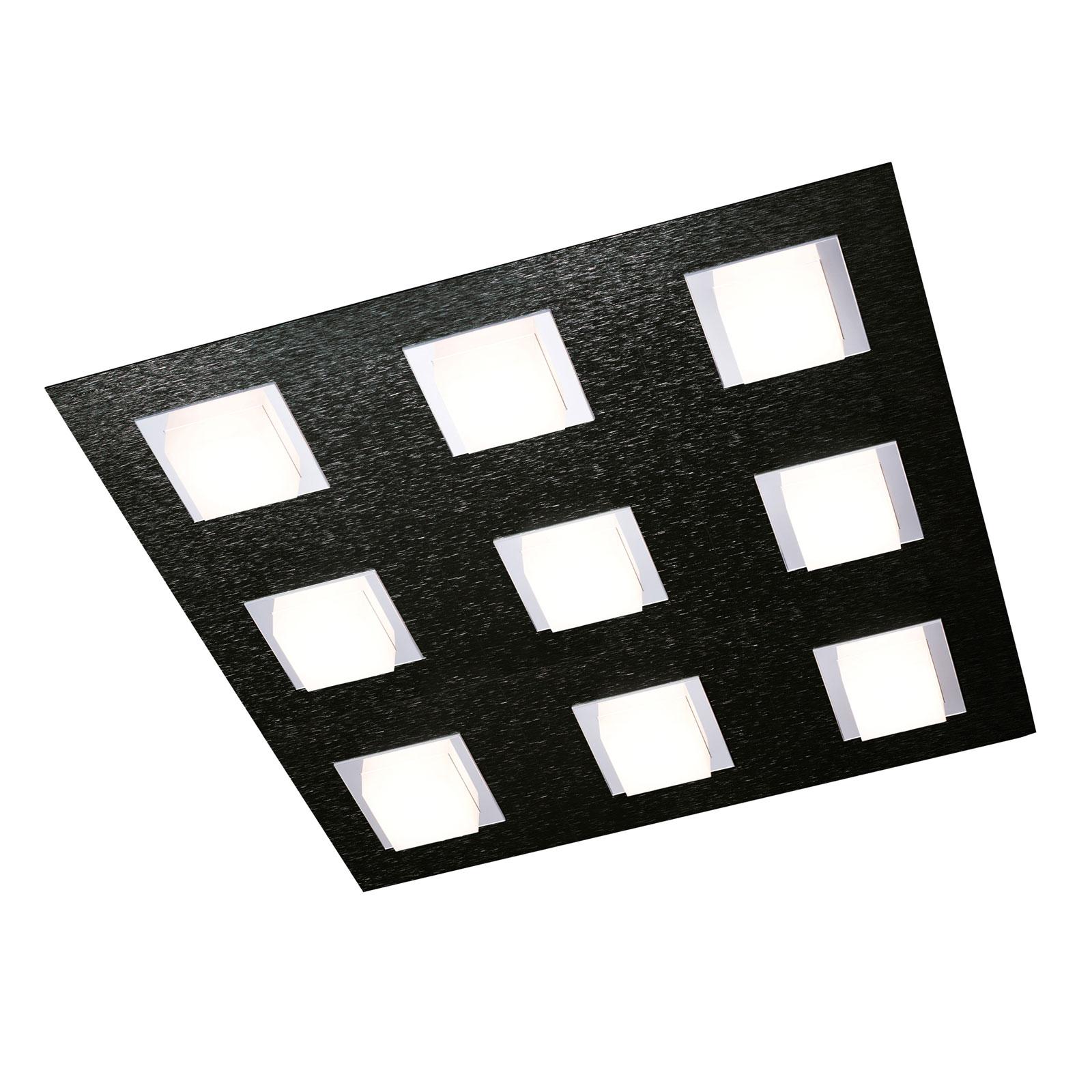 GROSSMANN Basic taklampe, 9 lyskilder, svart