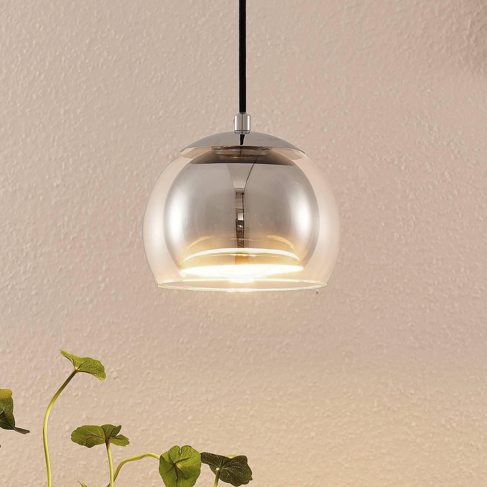 Lindby Daymien lampa wisząca, 1-pkt., chromowana