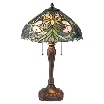 Stolní lampa 5922 ve stylu Tiffany, 2 zdroje modrá
