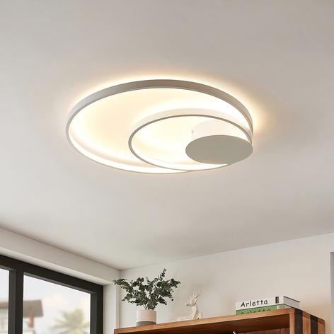 Lindby Nerwin plafonnier LED, rond, blanc
