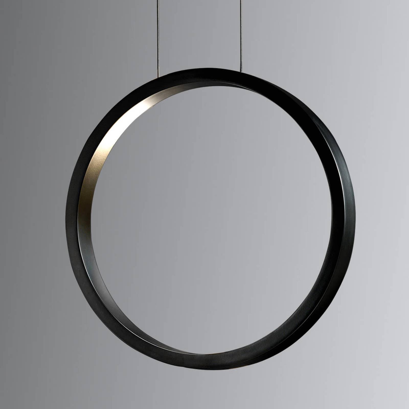 Czarna lampa wisząca LED Assolo, 43 cm