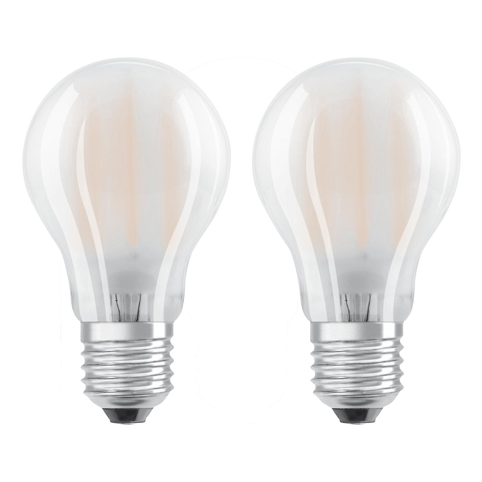 OSRAM LED-Lampe E27 4W warmweiß im 2er-Set