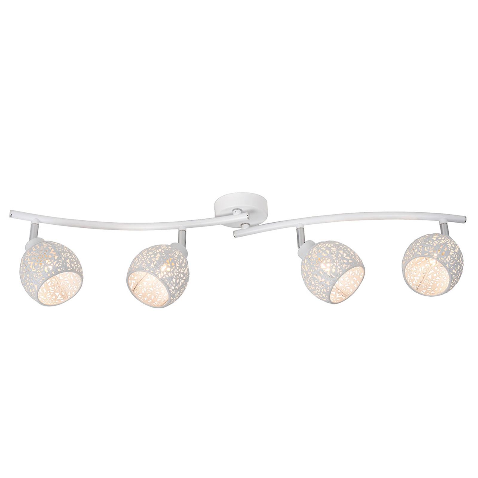 Instelbare plafondlamp Tahar met vier spots