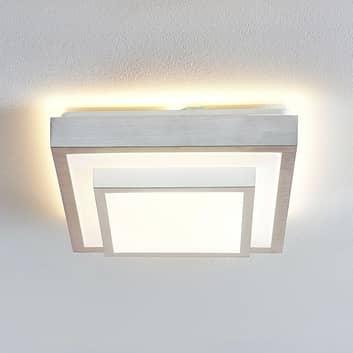 Lindby Mirco LED-Alu-Deckenlampe, eckig, 32 cm