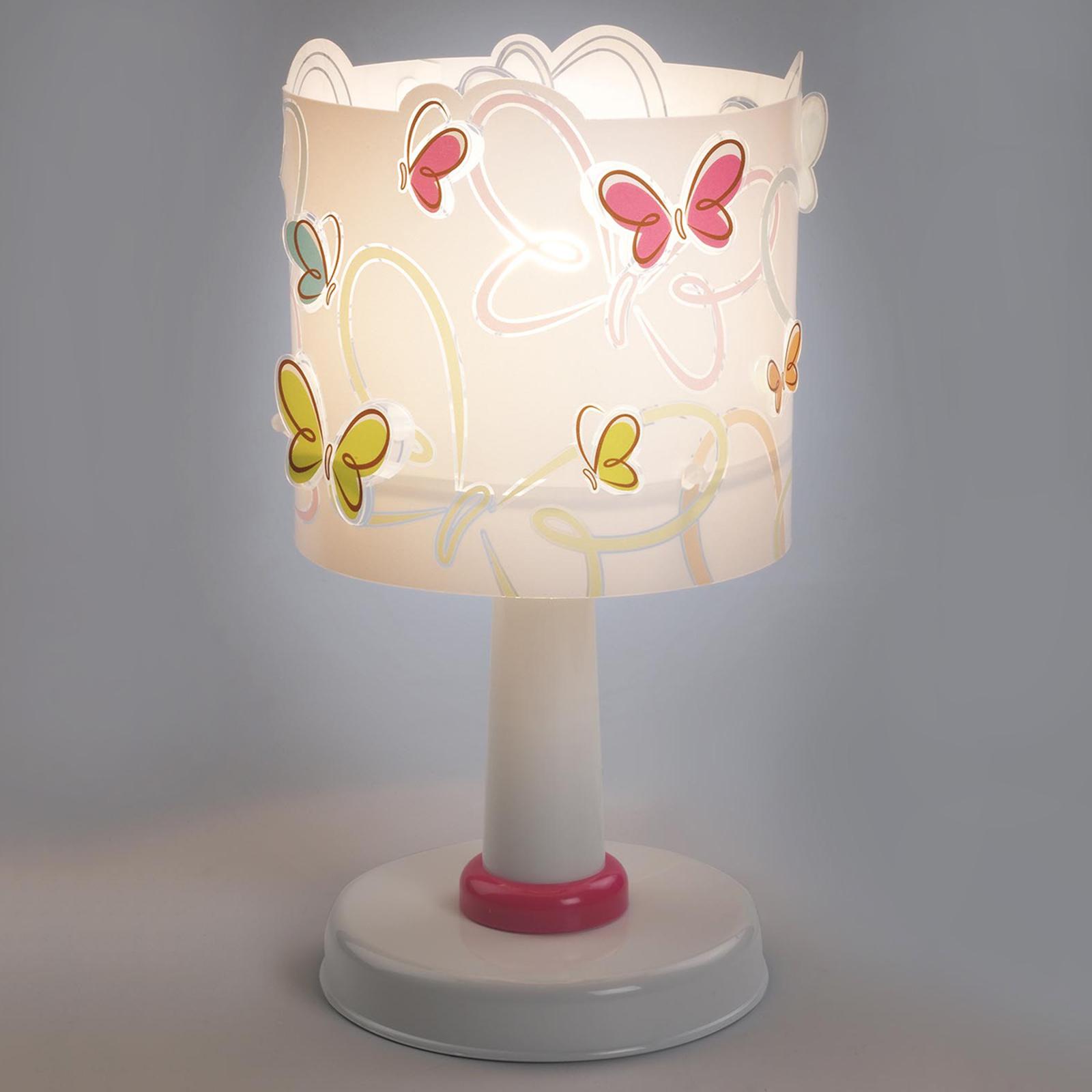 Butterfly – lampa stołowa do pokoju dziecięcego