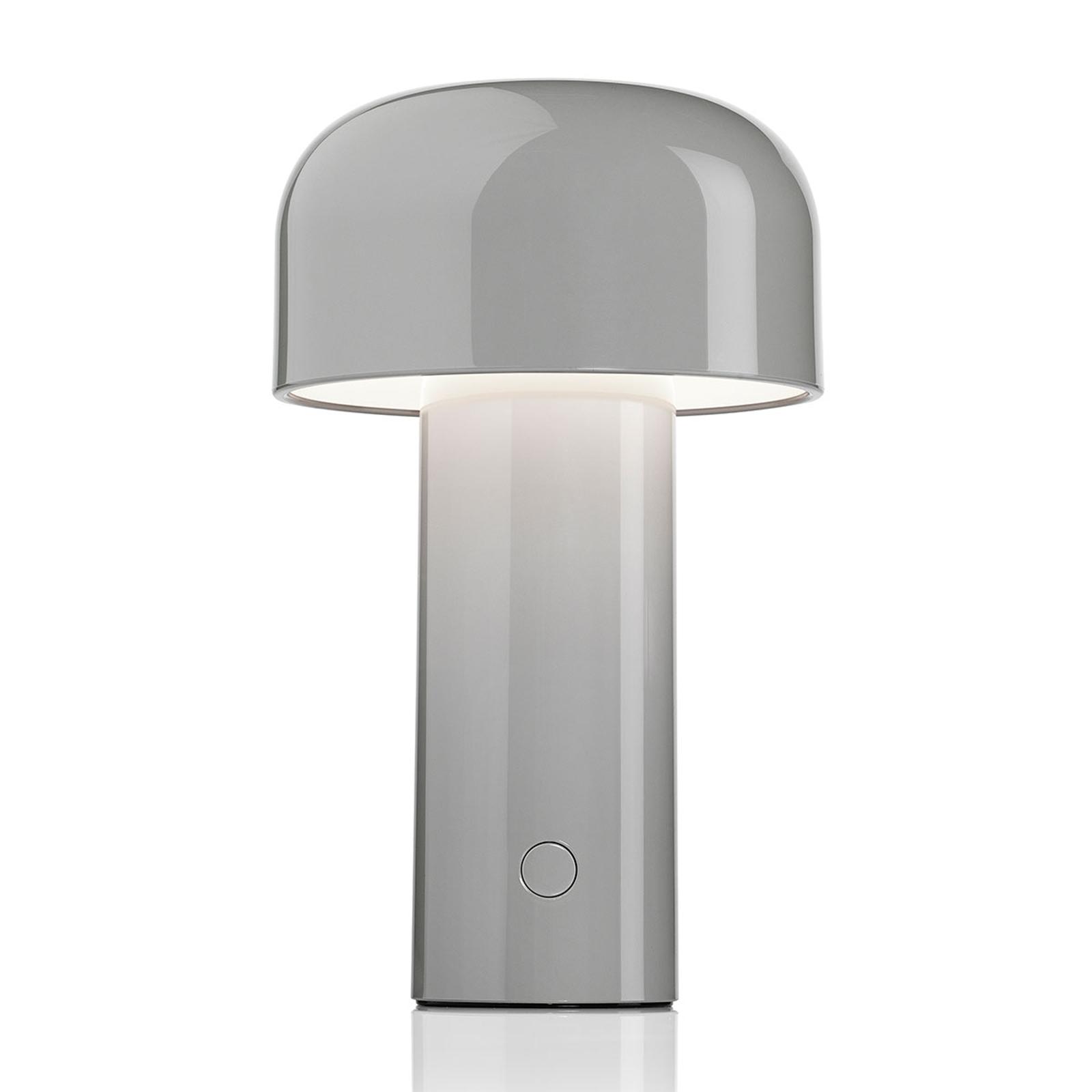 FLOS Bellhop aufladbare LED-Tischleuchte grau