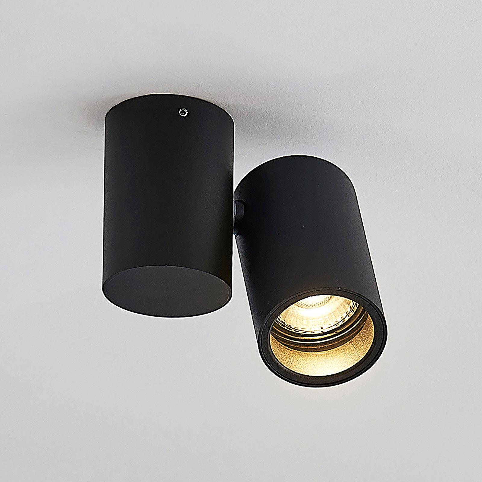Loftlampe Gesina, en lyskilde, sort