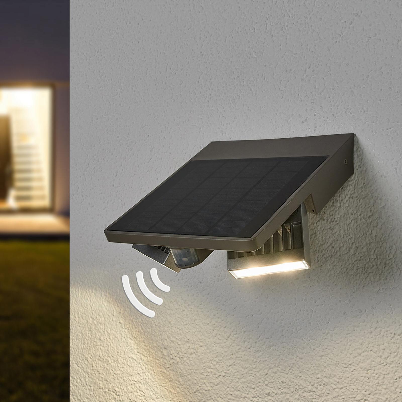 LED udendørsvæglampe Ghost Solar, bevægelsessensor
