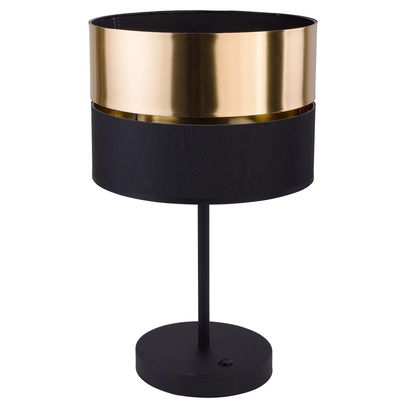 Bordlampe Hilton, svart/gull