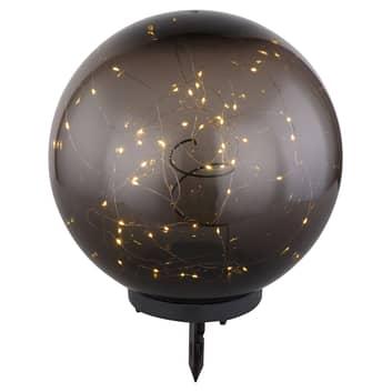 Aurinkokäyttöinen LED-valo, pallo, savunvärinen