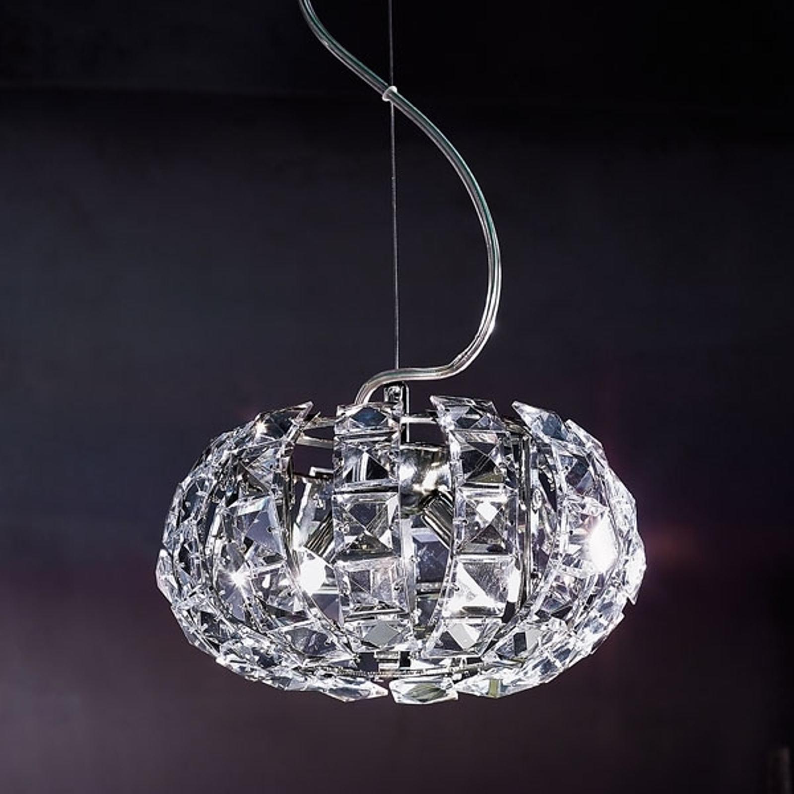 Lampa wisząca ze szklanymi kryształkami ANDROMEDA