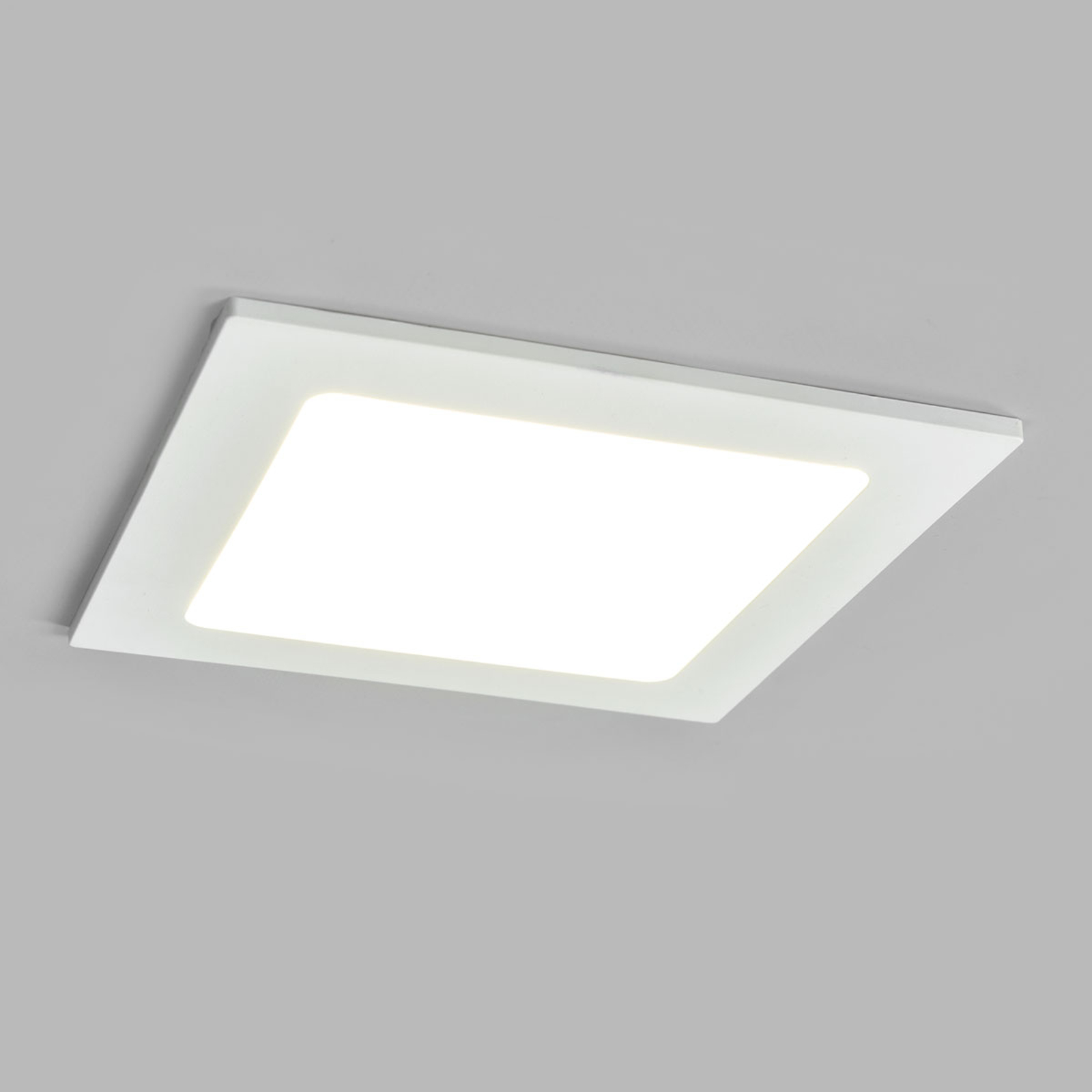 LED-Einbaustrahler Joki weiß 4000K eckig 16,5cm
