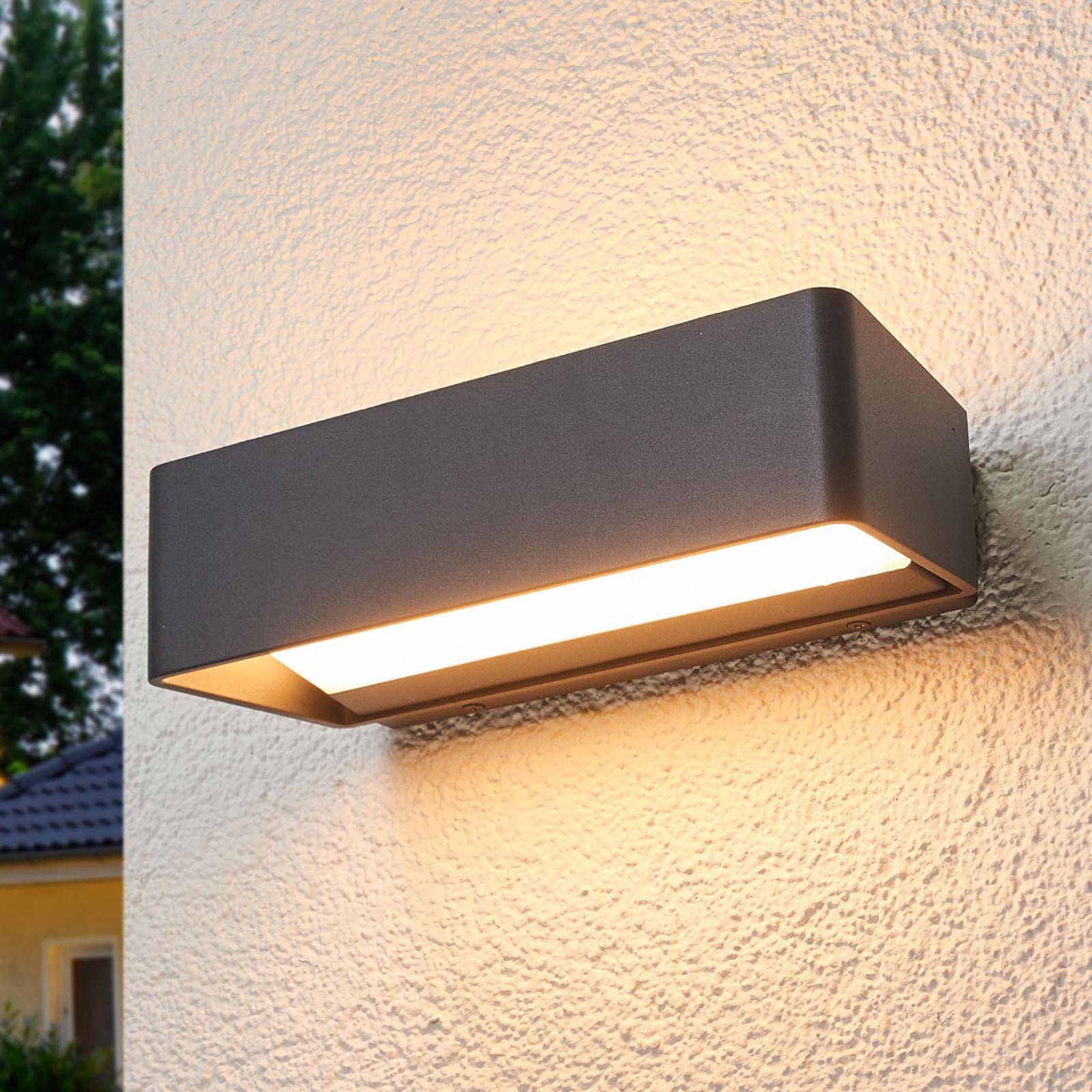 Logan – prosty, zewnętrzny kinkiet LED, IP65