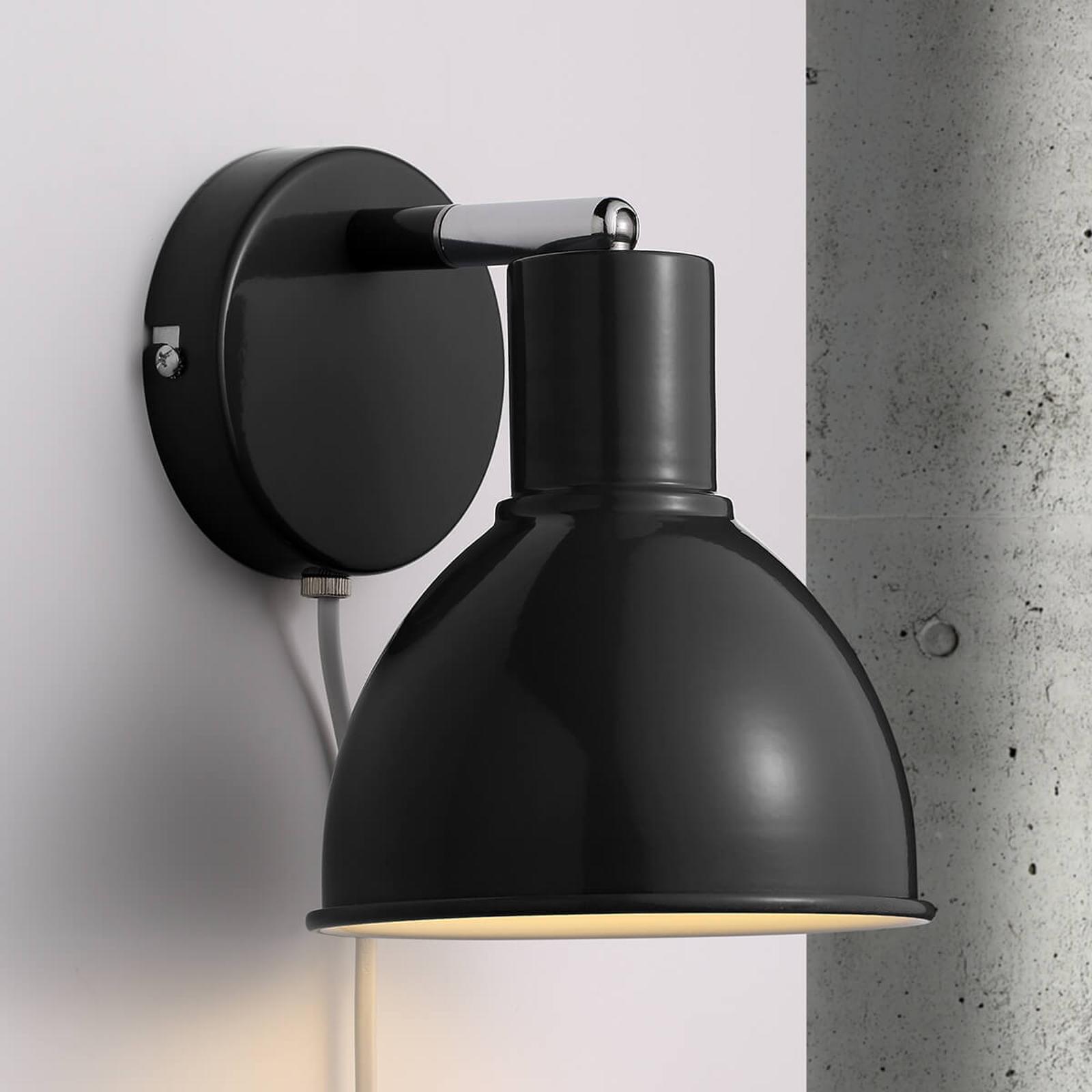 Wandlamp Pop Wall, zwart