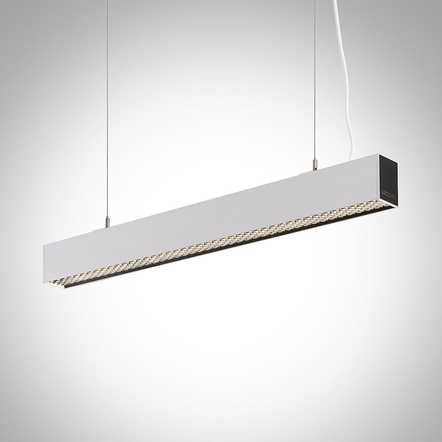 Arcchio Thores suspension bureau LED, 85cm blanc