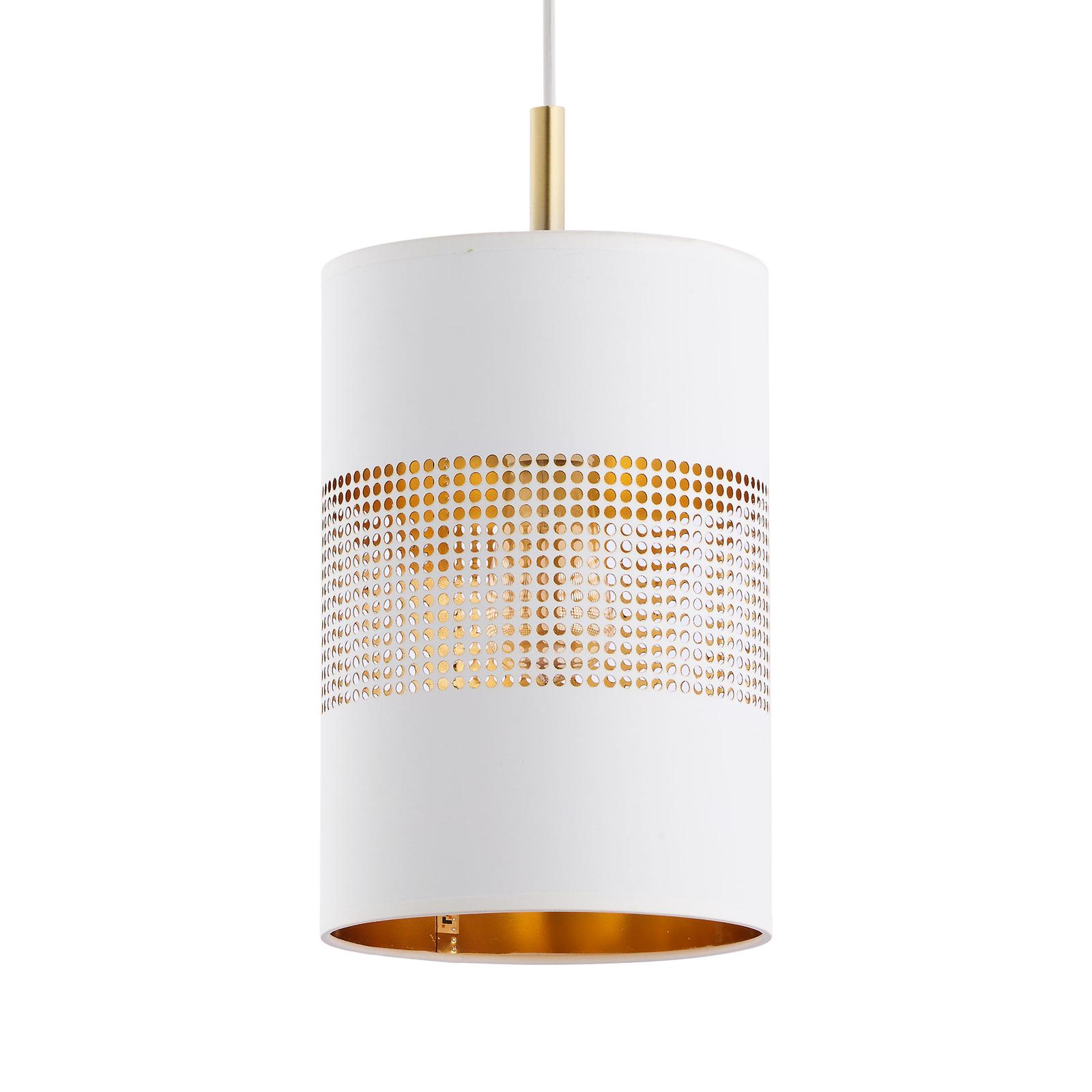 Lampa wisząca Bogart, 1-punktowa, biała/złota