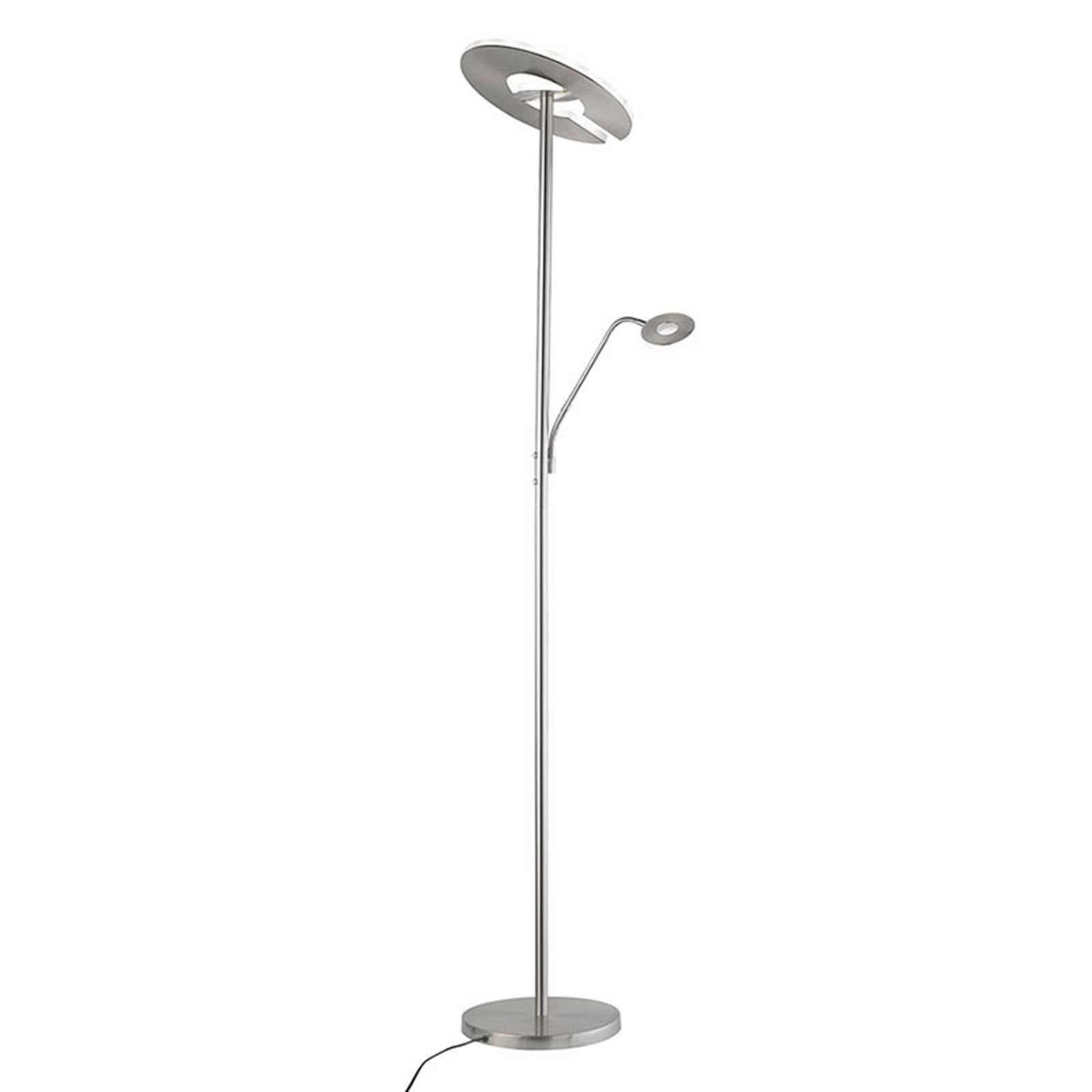 LED uplighter Dent met leeslamp, CCT, nikkel