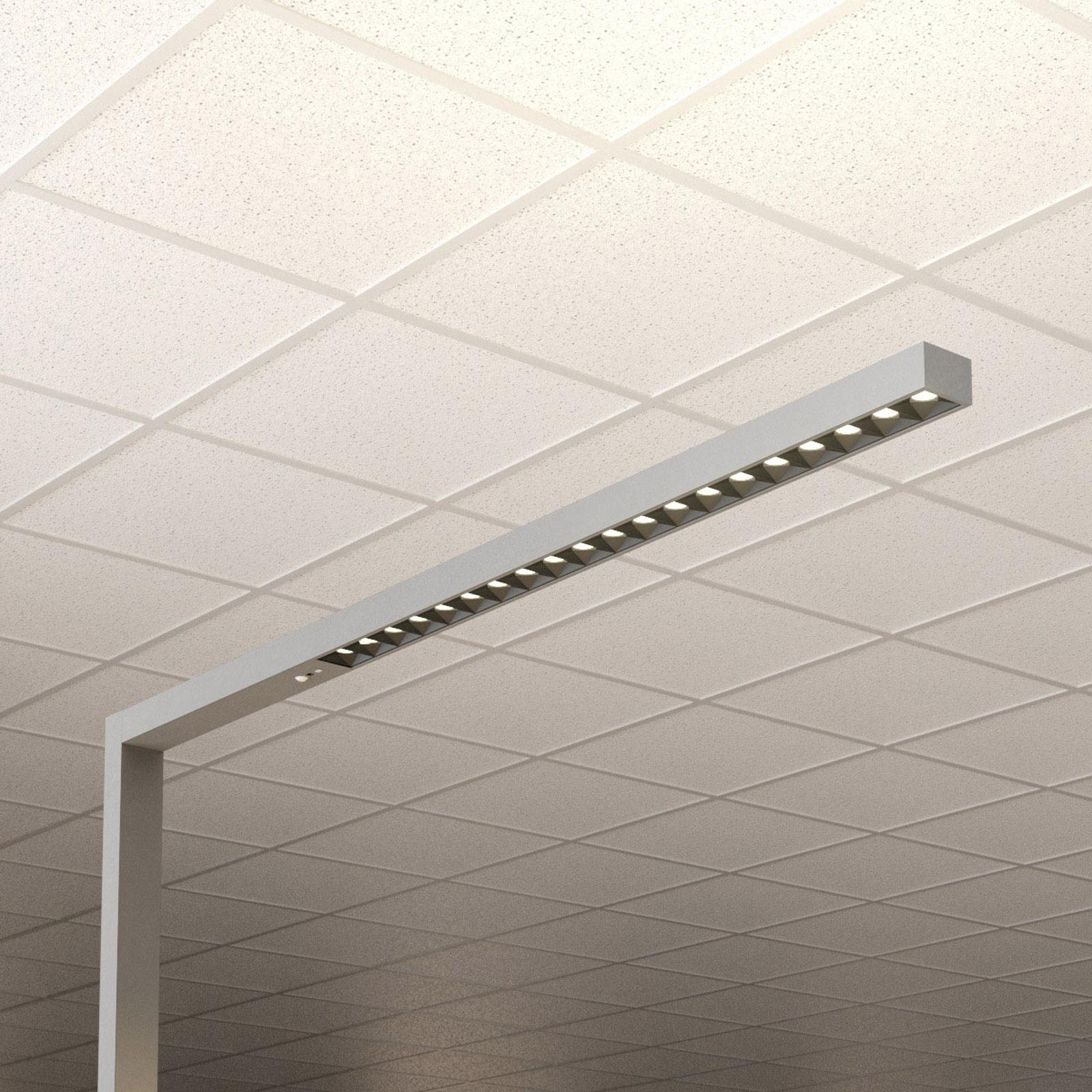 LED-gulvlampe kontor Laris, sølv, 3000 - 6000 K