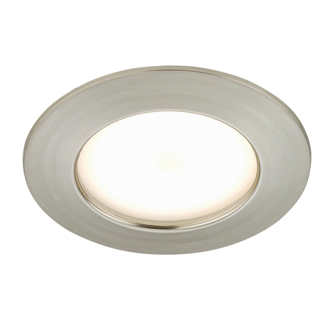 Spot encastré LED Carl pour l'ext., nickel mat