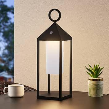Lucande Mikuma LED-utelykt, 54 cm, svart