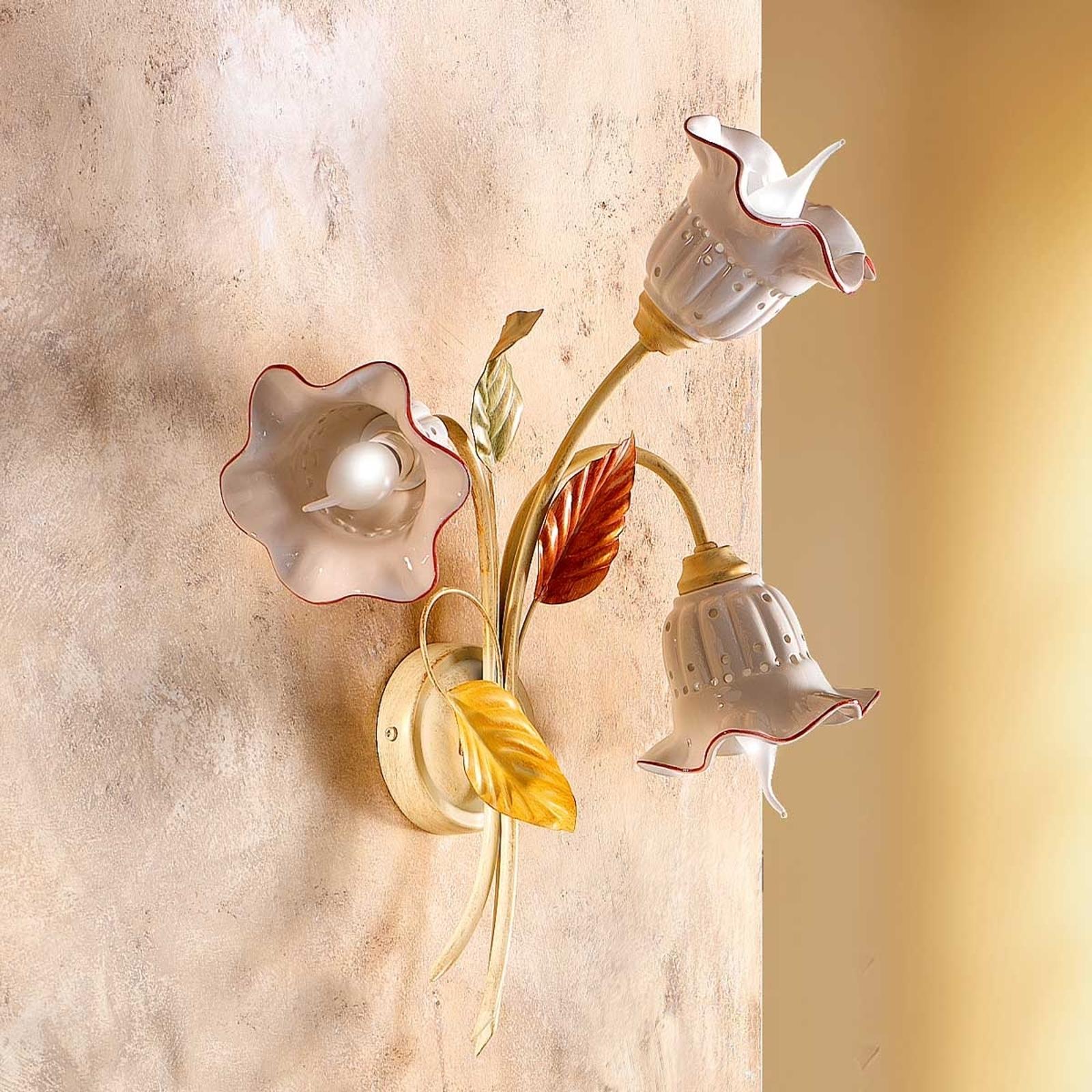 3zdrojové nástěnné světlo Flora florentinský styl
