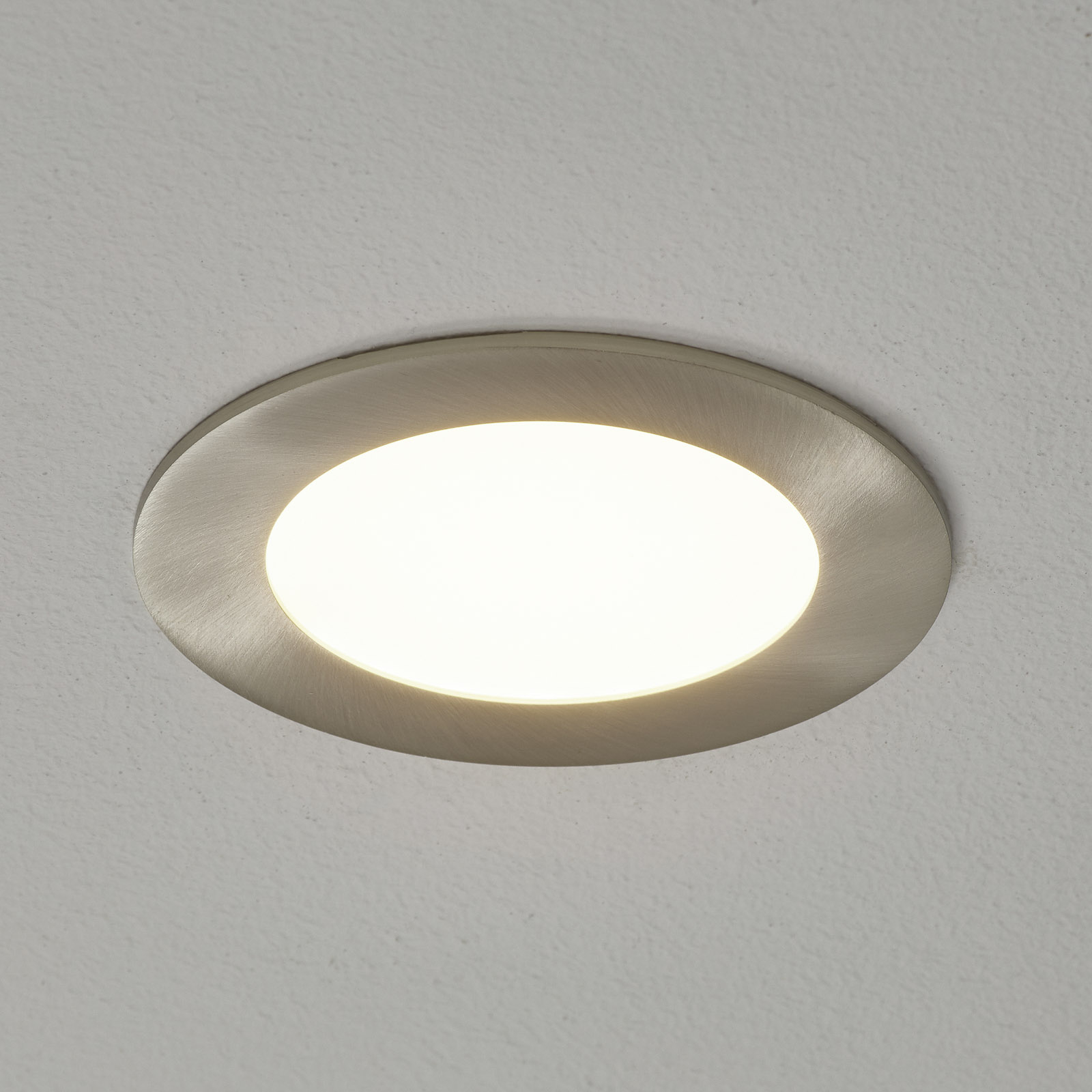 Fueva-Connect oprawa wpuszczana LED nikiel 12cm