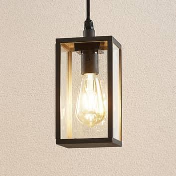Lindby Filimon lampa wisząca zewnętrzna szara E27