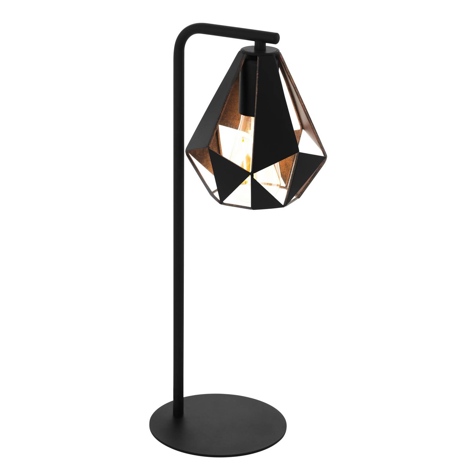 Lampe à poser Carlton 4 en noir/cuivre