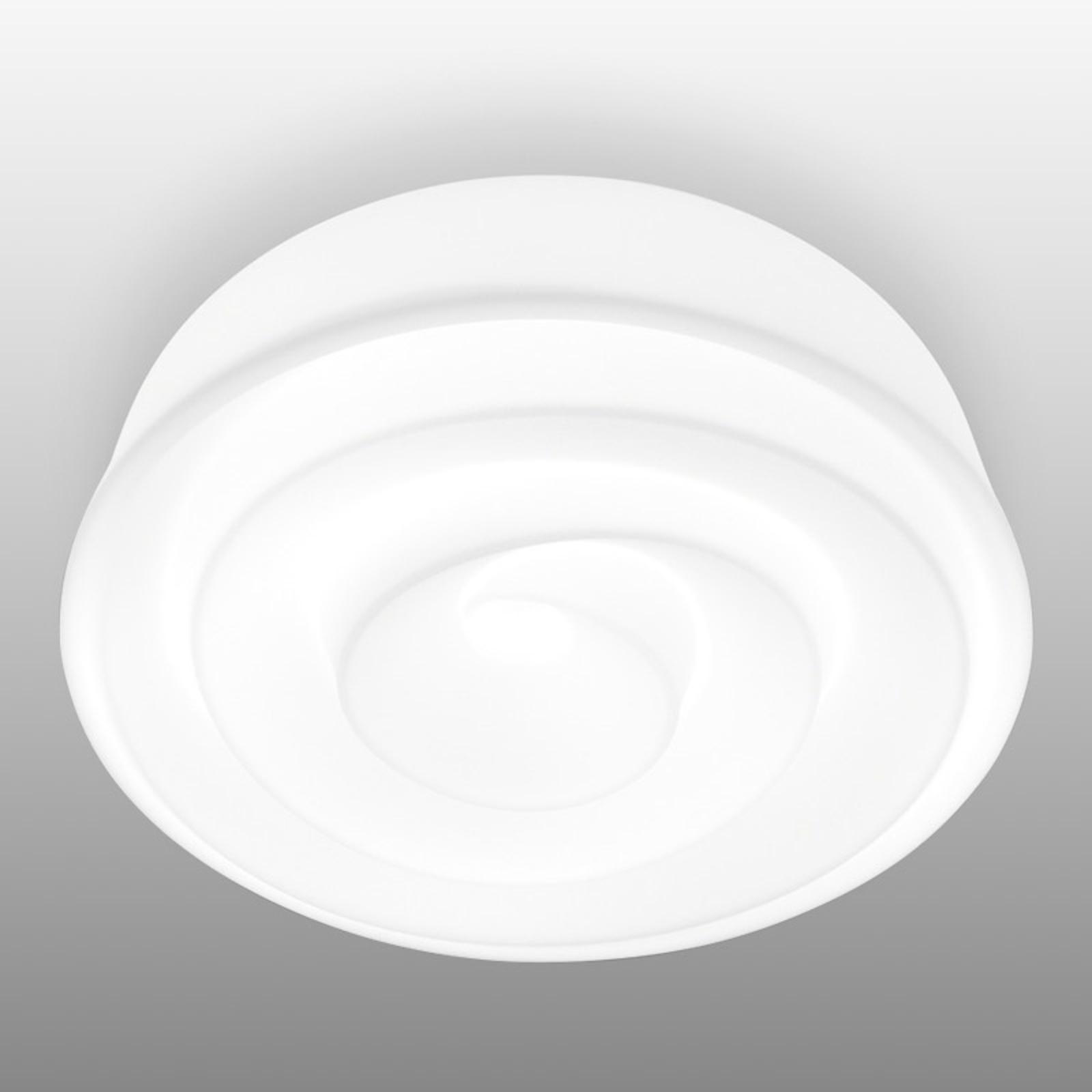 Biała lampa sufitowa Roselie