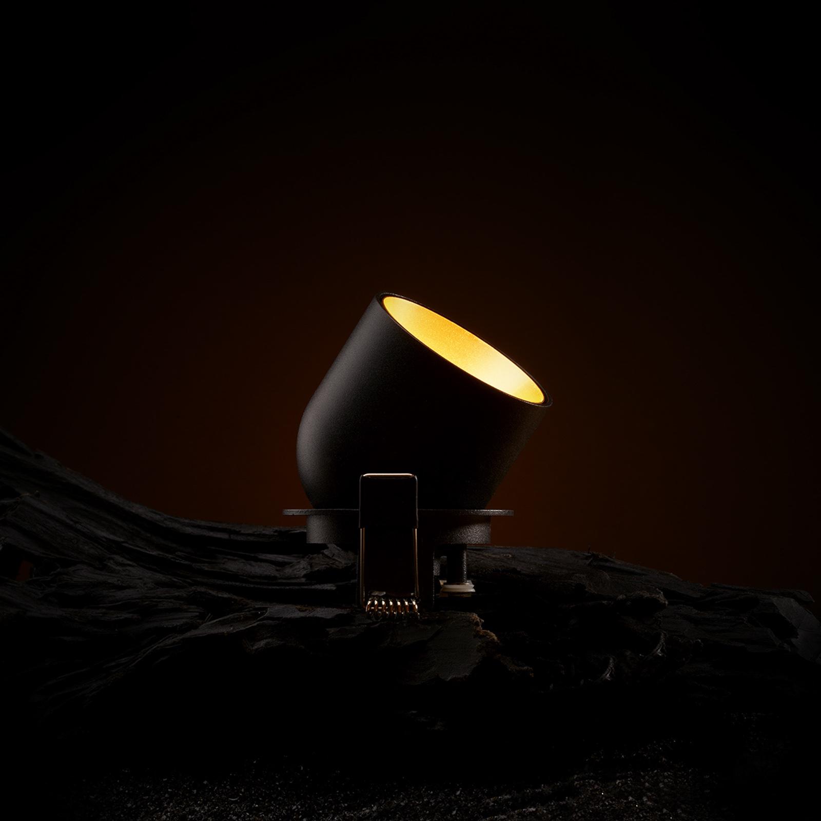 SLC Cup LED downlight zwart/goud 2.700 K