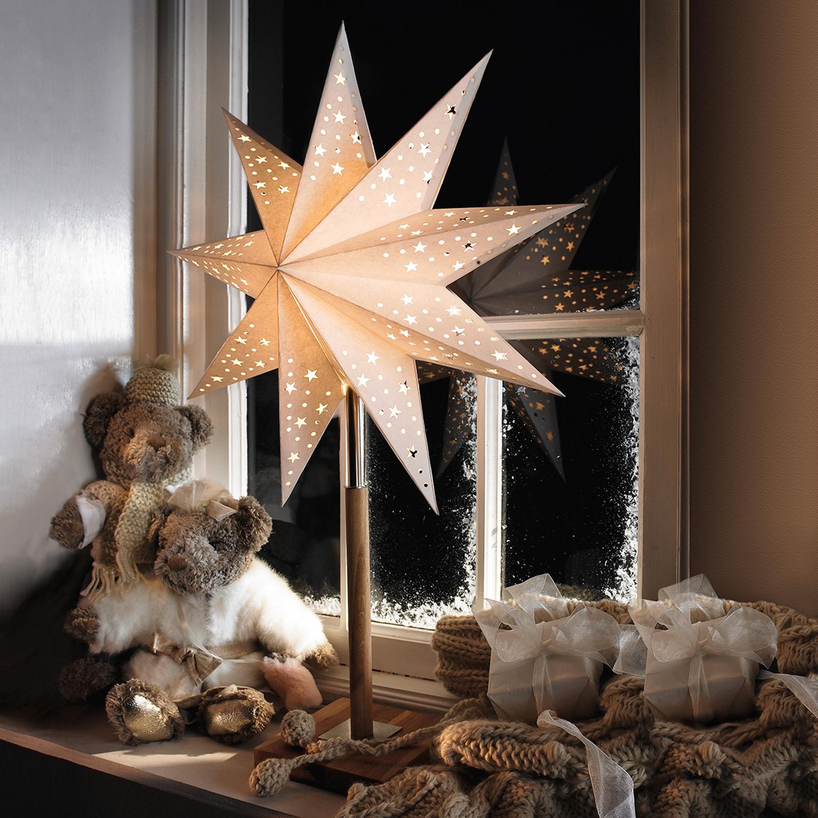 Mooie ster Solvalla als tafellamp, 45 x 64 cm