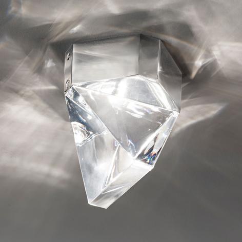 Fabbian Tripla – LED-kristalltaklampa, aluminium