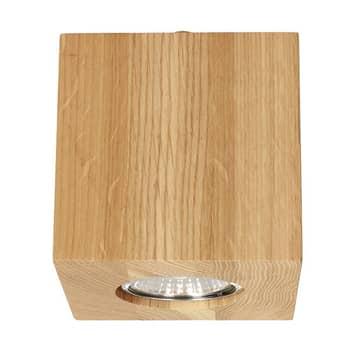 Wooddream loftlampe, 1 lyskilde, eg, kantet, 10 cm