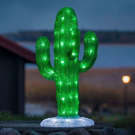 Utendørs LED-dekorasjon akryl Kaktus