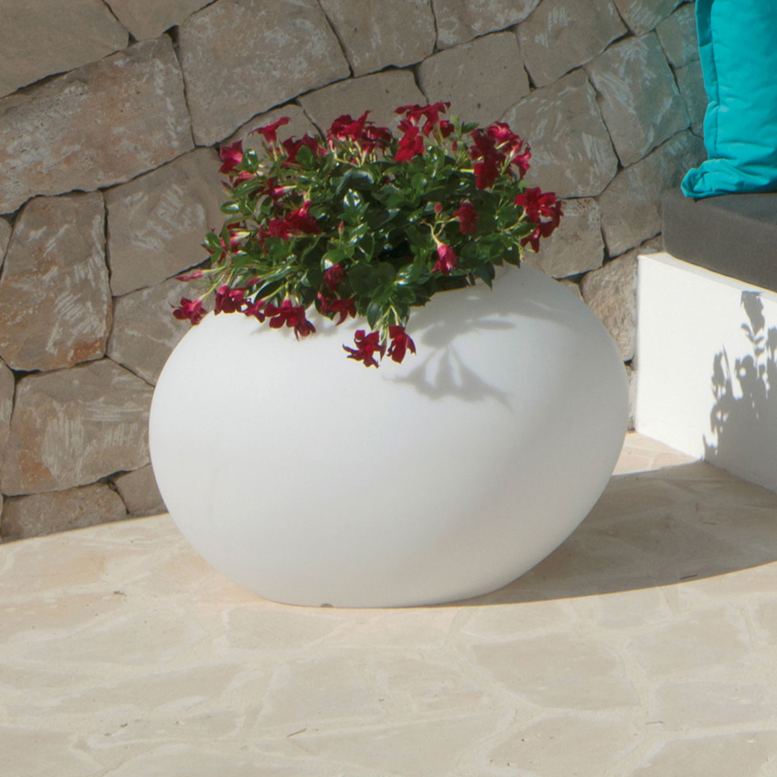 Dekolampe Storus IV, plantbar, hvit