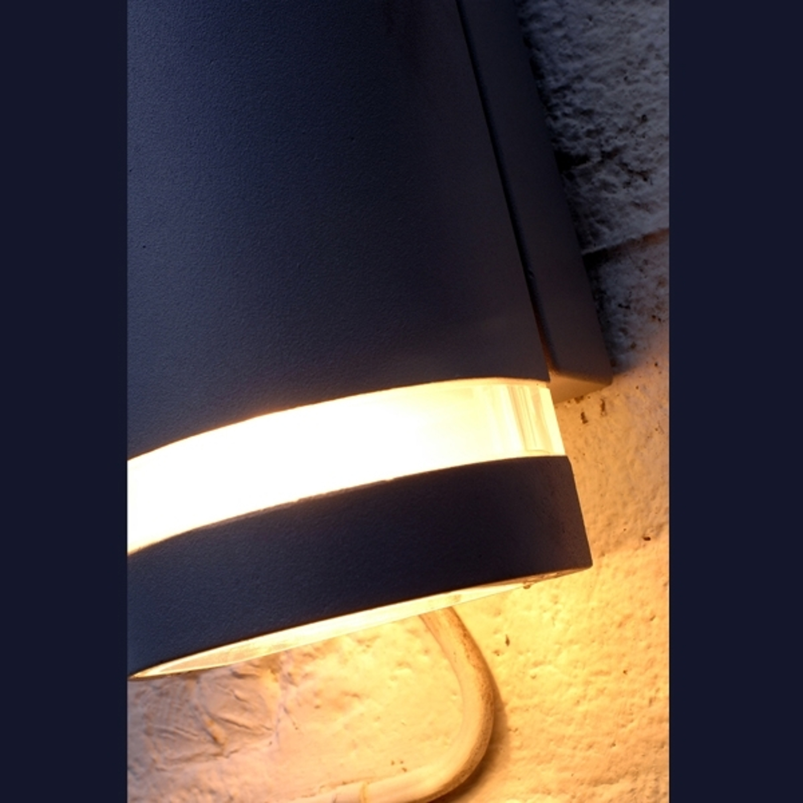 Piękna lampa designerska Focus antracyt