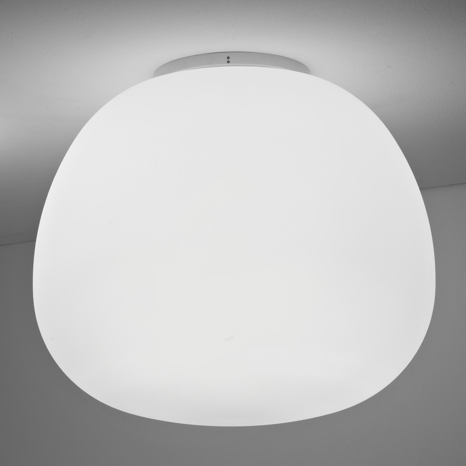 Zacht witte plafondlamp MOCHI diameter 45 cm
