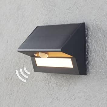 LED-solcellsutomhusvägglampa Kristiana med sensor