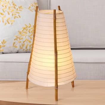 Bordlampe Bamboo av bambus og papir