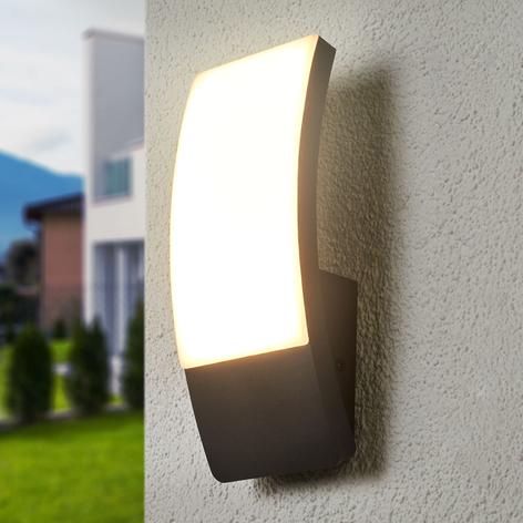 Gewölbte LED-Außenwandleuchte Siara, dunkelgrau